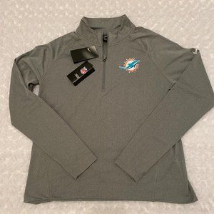Nike Women's Miami Dolphins 1/2 Zip Pullover - L